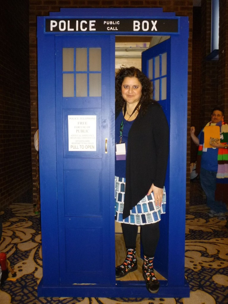 Beth in the TARDIS