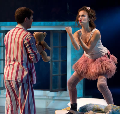 Michael Darling (Scott Weston) & Tinker Bell (Jessie Sherman) in PETER PAN at the Threesixty Theatre (Photo: Jeremy Daniel)