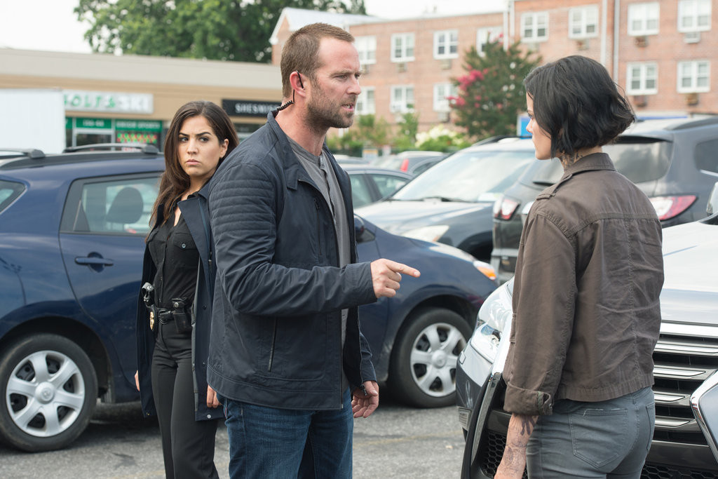 Audrey Esparza as Tasha Zapata, Sullivan Stapleton as Kurt Weller, Jaimie Alexander as Jane Doe -- (Photo by: JoJo Whilden/NBC)