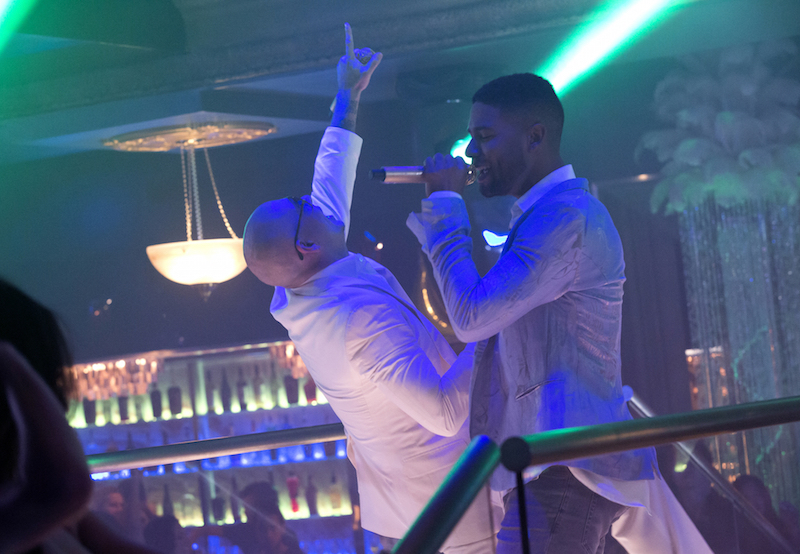 "Pictured L-R: Guest star Pitbull and Jussie Smollett as Jamal Lyon in the ""Fires Of Heaven"" Cr: Chuck Hodes/FOX."