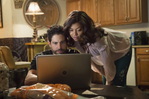 "EMPIRE: L-R: Guest star Adam Rodriguez and Taraji P. Henson in the ""True Love Never"" episode of EMPIRE airing Wednesday, Nov. 11 (9:00-10:00 PM ET/PT) on FOX. ©2015 Fox Broadcasting Co. Cr: Chuck Hodes/FOX."