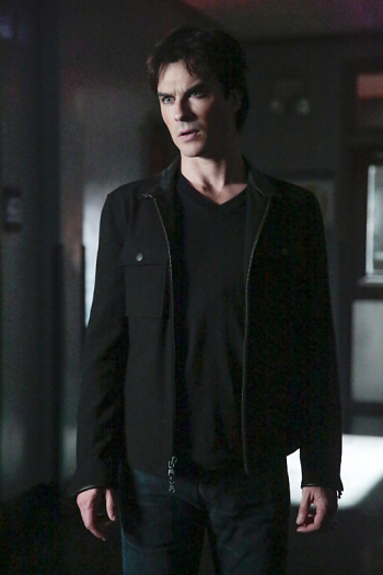 "The Vampire Diaries -- ""This Woman's Work"" -- Image Number: VD713a_0061.jpg -- Pictured: Ian Somerhalder as Damon -- Photo: Carin Baer/The CW -- © 2016 The CW Network, LLC. All rights reserved."
