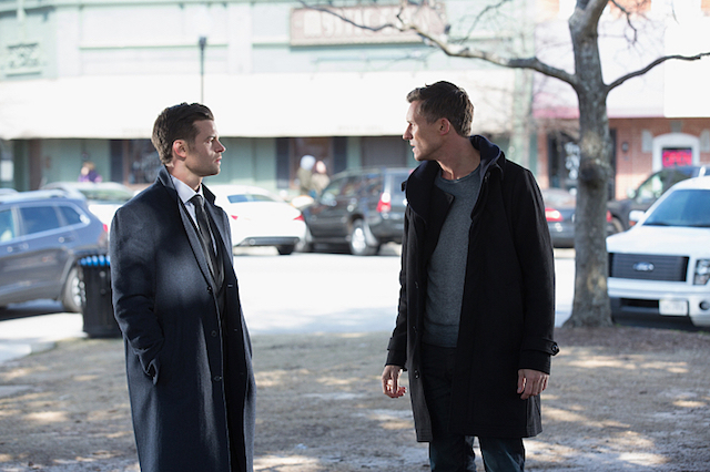 "The Originals -- ""Behind the Black Horizon"" -- Image Number: OG317b_0090.jpg -- Pictured (L-R): Daniel Gillies as Elijah and Caspar Zafer as Finn -- Photo: Bob Mahoney/The CW -- © 2016 The CW Network, LLC. All rights reserved"