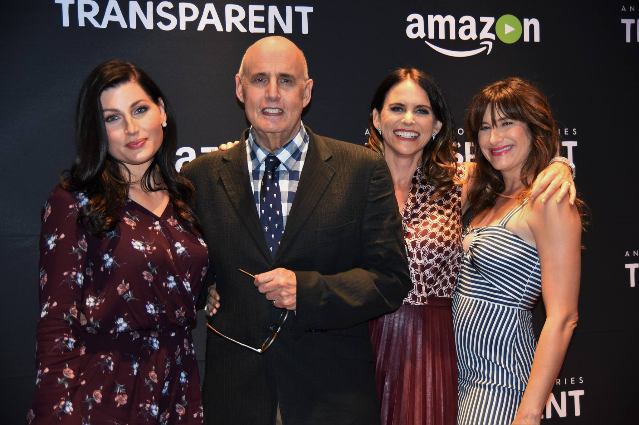 The cast of Transparent at the Naval Memorial in DC (l to r: Trace Lysette, Jeffrey Tambor, Amy Landecker & Kathryn Hahn) Photo credit: Renita Clarke