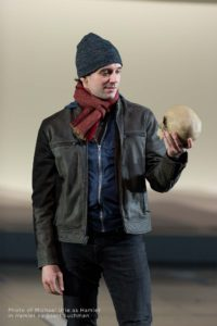 Photo of Michael Urie as Hamlet in Hamlet by Scott Suchman.