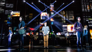 Ben Levi Ross as 'Evan Hansen' and the Company of the First North American Tour of Dear Evan Hansen. Photo by Matthew Murphy. 2018